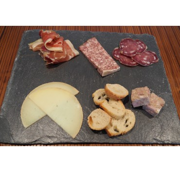 Charcuterie and cheese snack