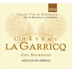 Offre Noël -  Carton de 6 bouteilles du Château La Garricq 2014