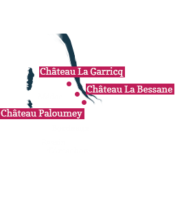 Our vineyards : La Garricq, La Bessane, Paloumey