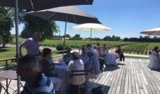 A club of Swiss connoisseurs visiting Château Paloumey