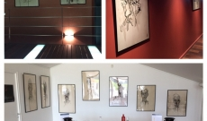 Antoine Arnaud expose ses dessins au Château Paloumey